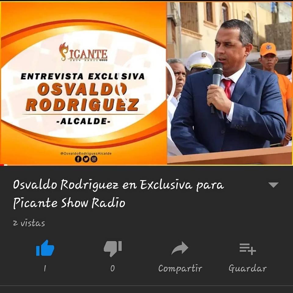 ENTREVISTA RADIAL A NUESTRO ALCALDE OSVALDO RODRIGUEZ
