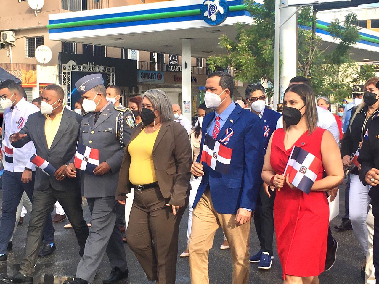 Alcaldía de Haina participa en actos conmemorativos por 177 aniversario de Independencia Nacional